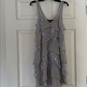 Armani Exchange teared sequins dress